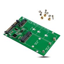 NGFF M.2 B+M KEY or mSATA SSD to SATA III 3 Board Adapter