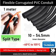 Flexible Corrugated PVC Conduit (Split), Ducting, Pipes, 10mm - 54.5mm