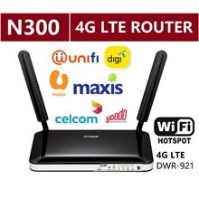 D-LINK 4G LTE Wireless Hotspot WiFi Direct SIM Modem Broadband Router DWR-921