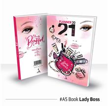Planner Book 2021 + FREE ! School Planner - BOOK Lady Boss Ready Stock