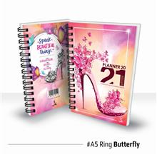 Planner Book 2021 + FREE ! School Planner - RING Butterfly Ready Stock