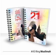Planner Book 2021 + FREE ! School Planner - RING Muslimah Ready Stock