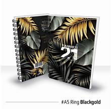 Planner Book 2021 + FREE ! School Planner - RING Black Gold Ready