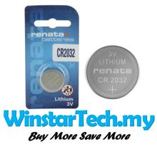 Renata CR2032 225mAh 3V Lithium Primary 2032 Coin Cell Battery