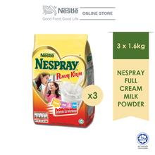 NESPRAY Full Cream Milk Powder Softpack 1.6Kg, Bundle of 3