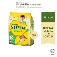 NESPRAY CERGAS Milk Powder Soft Pack 1.6kg, Bundle of 3