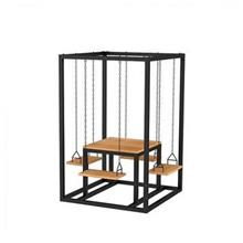 Furniture Iron Swing Chair Simple Modern Outside Wood Small Apartment