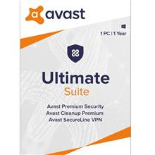 Avast Ultimate 2021 - 1 Year 1 PC Windows 7 8 10 Mac IOS Android VPN