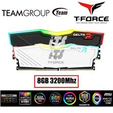 TeamGroup T-Force 8GB Delta RGB DDR4-3200 Gaming Ram (Black/White)