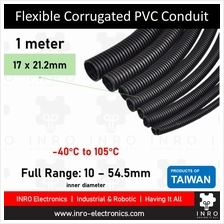 "Flexible Corrugated PVC Conduit, Ducting, Pipes, 21.2mm,1/2 "" (1 meter)"