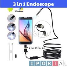 3 in 1 USB Type-C Endoscope 5.5 Lens HD Camera IP67