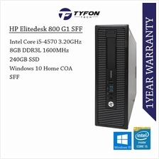 HP EliteDesk 800 G1 SFF i5 8GB RAM 240GB SSD Win10 Desktop PC Computer