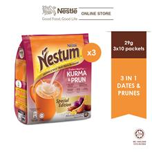 NESTLE NESTUM Grains  & More 3in1 Dates  & Prunes 10x27g, Bundle of 3