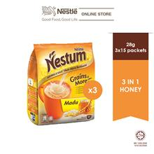 NESTLÉ NESTUM Grains  & More 3in1 Honey 15 Packets 28g, Bundle of 3