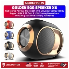 X6 Golden Eggs Speaker Stereo with Strong Bass Bluetooth Loudspeaker