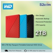 WD 2TB My Passport Portable External HDD Drive