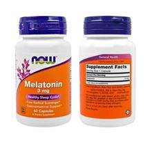 Now Foods, Melatonin, 3 mg, Helps Regulate Sleep Cycle (60 Capsules)