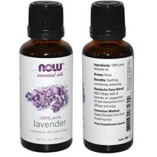 NOW 100% Pure Lavender Essential Oil, Made in USA (30ml)
