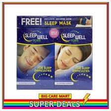 Sleep Well Forte Pill 2X60s (Pil Tidur) FREE Sleep Mask