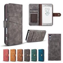 Sony Xperia XZ Ancient Flip Wallet Card slot Case Casing Cover