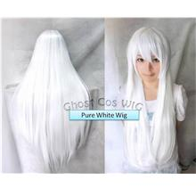 Cosplay pure white wig/ready stock/rambut palsu/100cm