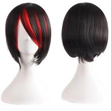 Cosplay BOBO Cut Wig t12/ ready stock/rambut palsu/red highlight