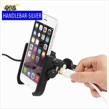 Motorcycle mobile phone bracket rechargeable motorcycle aluminum