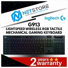 LOGITECH G913 LIGHTSPEED WIRELESS RGB TACTILE MECH GAMING KEYBOARD