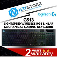 LOGITECH G913 LIGHTSPEED WIRELESS RGB LINEAR MECH GAMING KEYBOARD