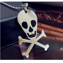 Skull Pirate Stainless Steel Pendant Chain Jolly Rogers Skeleton