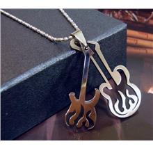 Guitar Stainless Steel Pendant Chain Hiphop Concert Electric Star