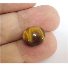 TEC18 Genuine Tiger Eye Cabochon Luck & Wealth Stone 8.10ctw