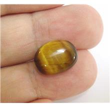 TEC16 Genuine Tiger Eye Cabochon Luck & Wealth Stone 8.50ctw