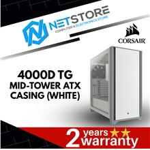 CORSAIR 4000D TG MIDTOWER ATX CASING (WHITE) - CC-9011199-WW