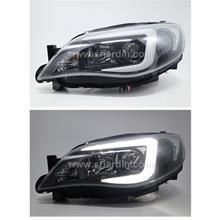 Subaru Impreza 08-14 v10 Black Projector Headlamp w Light Bar