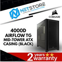 CORSAIR 4000D AIRFLOW TG MID-TOWER ATX CASING (BLACK) - CC-9011200-WW