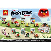LELE79249 ANGRY BIRD 8 IN 1 set lego compatible minifigure toy