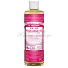 Dr. Bronner's Magic Soaps, Rose Liquid Castile Soap (237ml, 473ml)