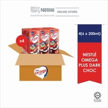 NESTLE OMEGA PLUS Dark Chocolate 6 Packs 200ml, (Carton)