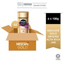 NESCAFE Gold Origins Alta Rica 100g x 6 Jar (Carton)