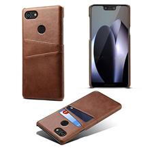 Google Pixel 23 XL Back Card Slot leather creative case casing cover
