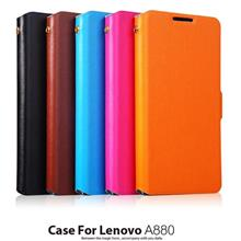 Doormoon Cow Leather Lenovo A880 A889 Flip Stand Case + Free SP