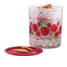 Tupperware Royal Rose One Touch Canister Large (1) 4.3L