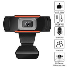 Full HD 1080P Wide Angle USB Webcam USB2.0 Drive-Free With Mic Web Cam