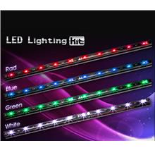 XIGMATEK XI-RAY LED STRIP LIGHT (CAS-E1LAA) BLUE/GRN/RED/WHT