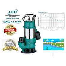 "Leo XSP 0.75kW (1.0HP) 2"" (50mm) S/Steel Submersible Sewage Pump"