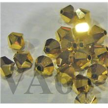 Swarovski Bicone 5328 Aurum 4mm AB 2x 5301 Gold Bead 20p Bling Bling