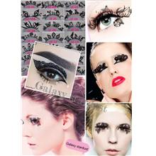 Eyelash-Paper Cut-Lace Paperself Party Tattoo Artistic-Lip Face Art
