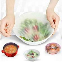 4pcs Reusable Silicone Food Storage Covers Food Wraps for Bowls Support Microw