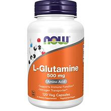 NOW Supplements, L-Glutamine 500 mg, Nitrogen Transporter, Amino Acid, 120 Veg